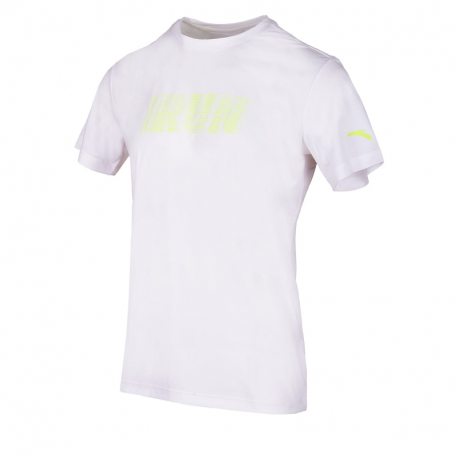 Pánské běžecké tričko s krátkým rukávem ANTA-SS Tee-MEN-Pure White-852025118-5