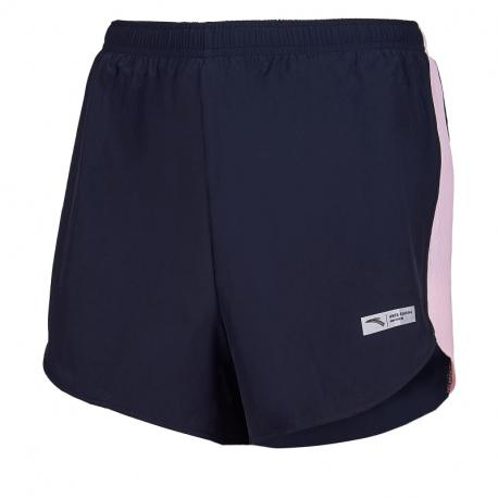 Dámské běžecké kraťasy ANTA-Woven Shorts-WOMEN-Basic Black / pink fruit-862025522-9