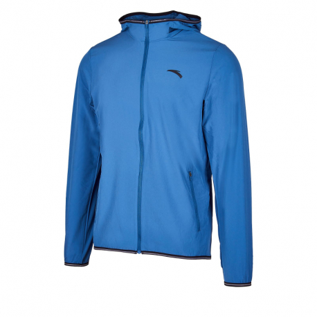 Pánská běžecká bunda ANTA-Single Windbreaker-MEN-purdah Blue-852025613-4