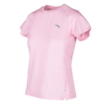 Dámské běžecké tričko s krátkým rukávem ANTA-SS Tee-WOMEN-Fruit Pink / Heather Grey-862025139-3