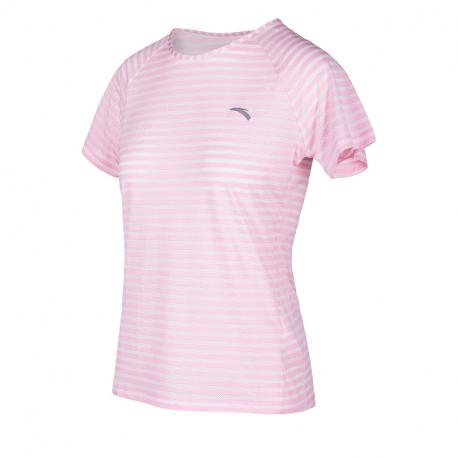 Dámské běžecké tričko s krátkým rukávem ANTA-SS Tee-WOMEN-Fruit Pink / Heather Grey-862025118-5