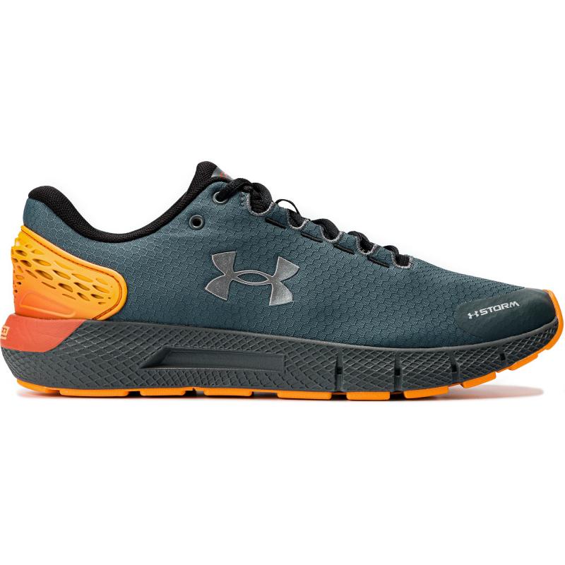 Pánska športová obuv (tréningová) UNDER ARMOUR-Charged Rogue 2 Storm pitch gray/lunar orange -