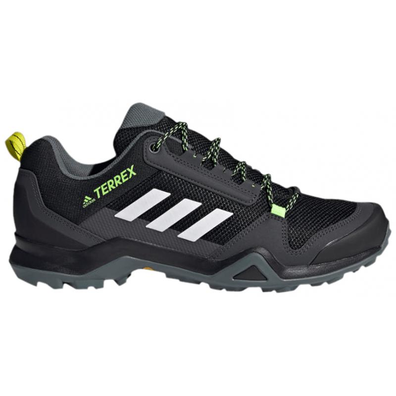 Pánska turistická obuv nízka ADIDAS-Terrex AX3 core black/cloud white/acid yellow -