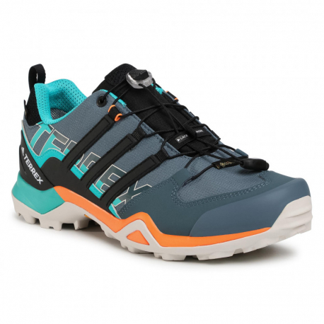 Pánska turistická obuv nízka ADIDAS-Terrex Swift R2 GTX leg blue/core black/signal orange