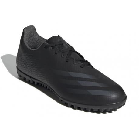 Pánske futbalové kopačky turfy ADIDAS-X Ghosted.4 M TF core black/grey six/core black