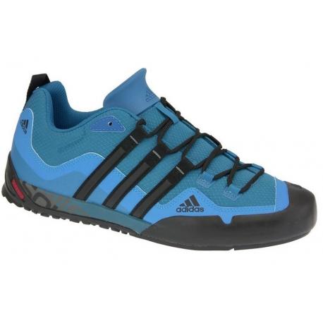 Pánska turistická obuv nízka ADIDAS-Terrex Swift Solo dark solar blue/core black/solar blue (EX)
