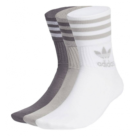 Pánske ponožky ADIDAS ORIGINALS-MID CUT CRW SCK-MGSOGR/GREFIV 3 PCK