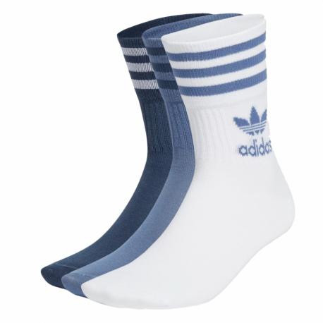 Pánske ponožky ADIDAS ORIGINALS-MID CUT CRW SCK-CREBLU/CRENAV 3 PCK