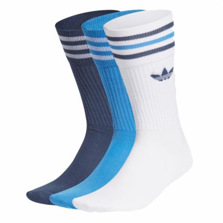 Pánske ponožky ADIDAS ORIGINALS-SOLID CREW SOCK-WHITE/TRUBLU/CRENAV 3 PCK