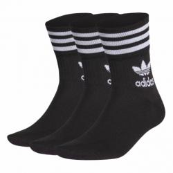 Ponožky ADIDAS ORIGINALS-MID CUT CRW SCK-BLACK/WHITE 3 PCK