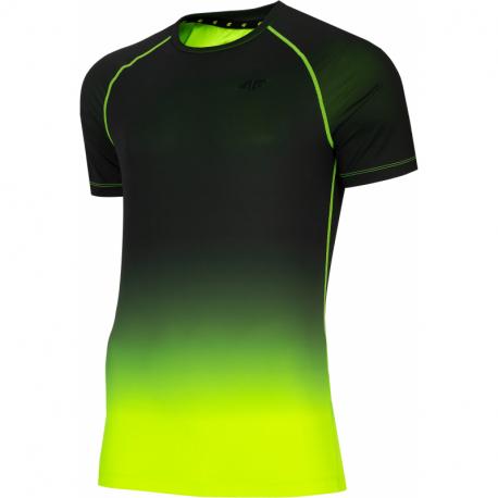 Pánske tréningové tričko s krátkym rukávom 4F-MENS FUNCTIONAL T-SHIRT-H4L21-TSMF014-45N-CANARY GREEN NEON