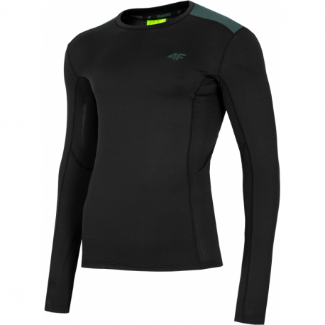 Pánské tréninkové triko s dlouhým rukávem 4F-MENS FUNCTIONAL LONGSLEEVE-H4L21-TSMLF010-20S-DEEP BLACK