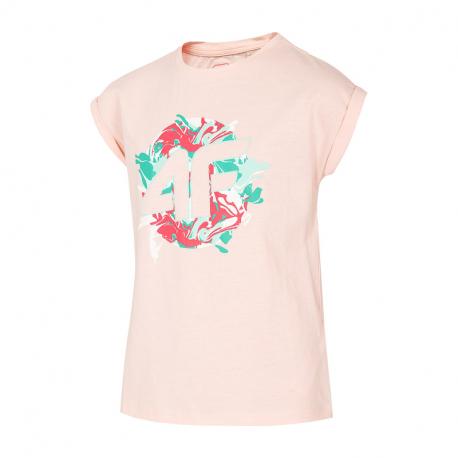Dívčí tričko s krátkým rukávem 4F-GIRLS-t-shirt-HJL21-JTSD012A-64S-Orange