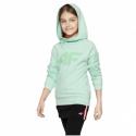 Dívčí mikina s kapucí 4F-GIRLS-MIDLAYER-HJL21-JBLD002B-47S-Green -