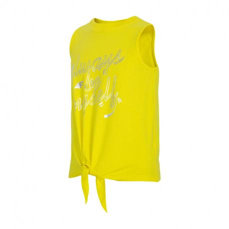 Dívčí tílko 4F-GIRLS-t-shirt-HJL21-JTSD013B-71S-Yellow