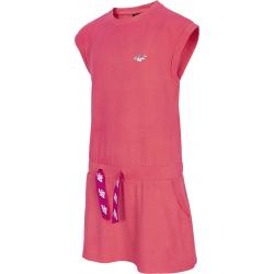 Dievčenské šaty 4F-GIRLS-dress-HJL21-JSUDD001-63S-Orange