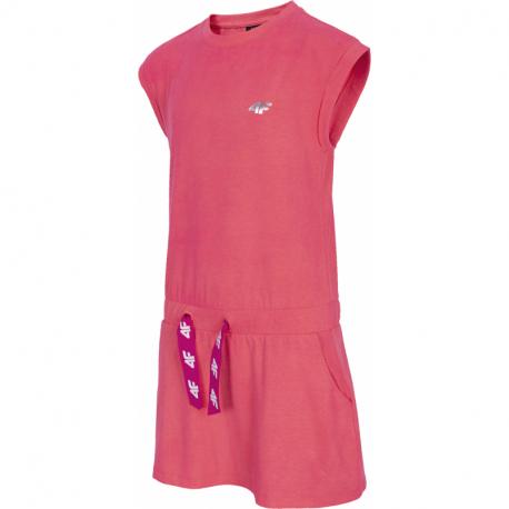 Dívčí šaty 4F-GIRLS-dress-HJL21-JSUDD001-63S-Orange