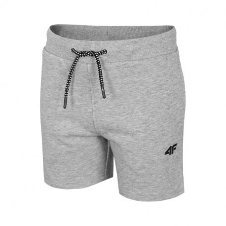 Chlapčenské teplákové kraťasy 4F-BOYS-pants-HJL21-JSKMD001-27M-Grey