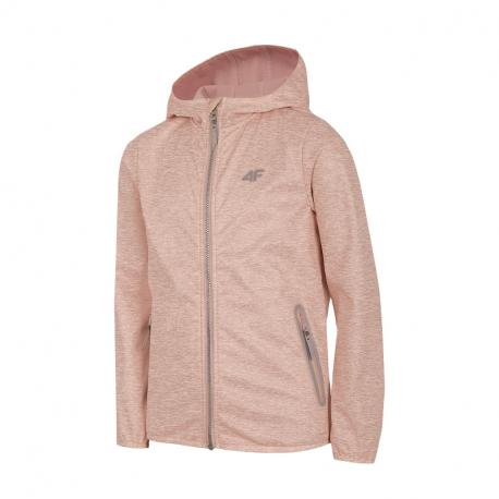 Dievčenská turistická softshellová bunda 4F-GIRLS-softshell-HJL21-JSFD001-56S-Pink