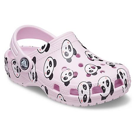 Dětské kroksy (rekreační obuv) CROCS-Classic Panda Print Clog K ballerina pink