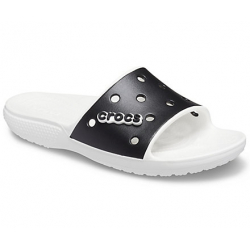 Obuv k bazénu CROCS-Classic Crocs Colorblock Slide white/black