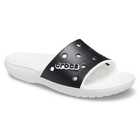 Obuv k bazénu CROCS-Classic Crocs Colorblock Slide bílá / černá (EX)