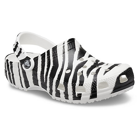 Kroksy (rekreačná obuv) CROCS-Animal Print Clog white/zebra print (EX)