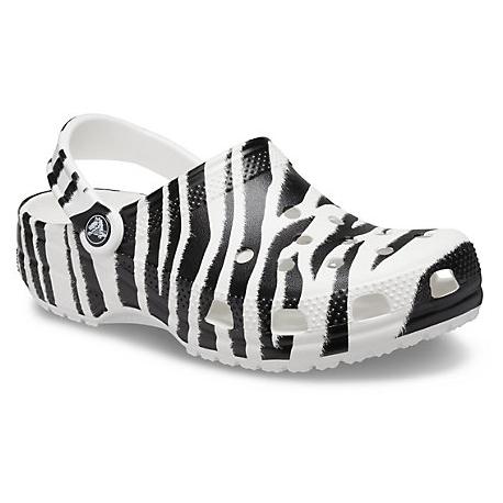 Kroksy (rekreační obuv) CROCS-Animal Print Clog white / zebra print (EX)