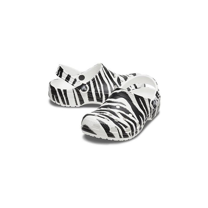 Kroksy (rekreačná obuv) CROCS-Animal Print Clog white/zebra print (EX) -