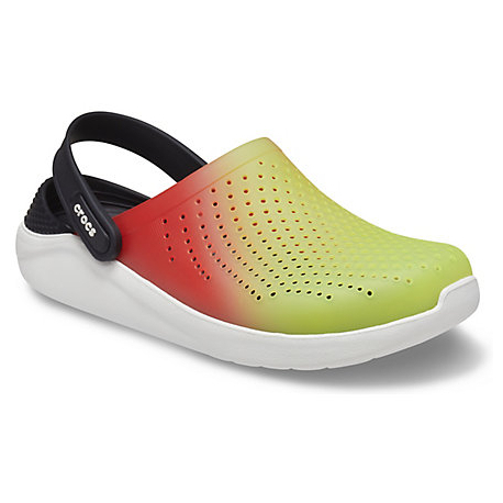 Kroksy (rekreační obuv) CROCS-LiteRide Color Dip Clog lime punch / scarlet / almost white