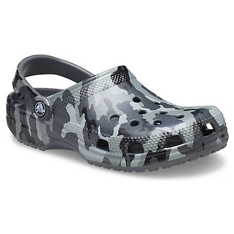 Kroksy (rekreační obuv) CROCS-Classic Printed Camo Clog slate grey / multi croslite