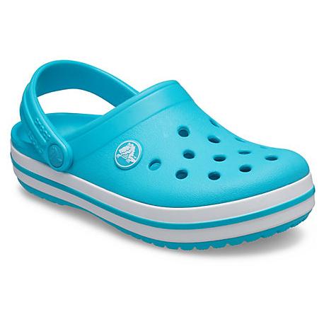 Juniorské kroksy (rekreační obuv) CROCS-Crocband Clog digital aqua