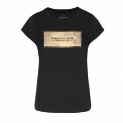 Dámske tričko s krátkym rukávom VOLCANO-T-GOLD-BLACK