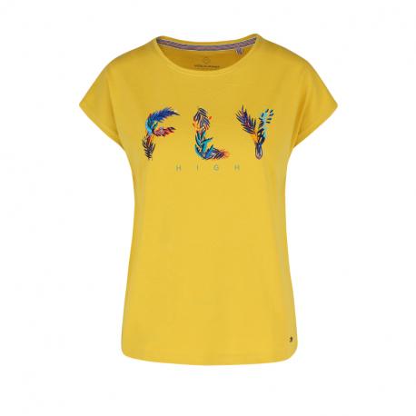 Dámske tričko s krátkym rukávom VOLCANO-T-FLY-YELLOW