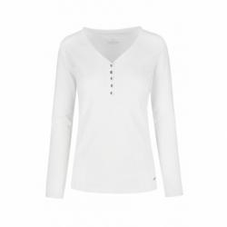 Dámske tričko s dlhým rukávom VOLCANO-L-SHILA-WHITE