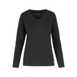 Dámske tričko s dlhým rukávom VOLCANO-L-MILA-BLACK