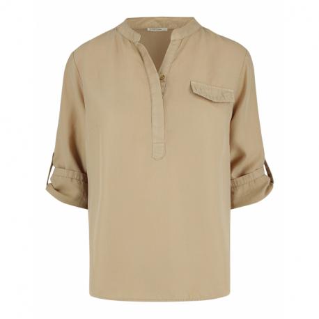 Dámska košeľa s krátkym rukávom VOLCANO-K-NITA-BEIGE