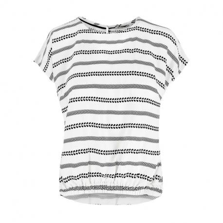 Dámska košeľa s krátkym rukávom VOLCANO-K-INDI-WHITE