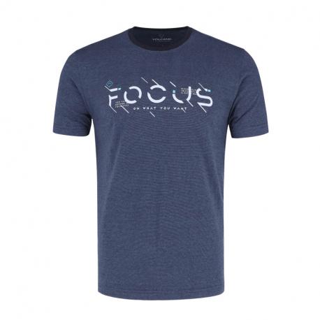 Pánske tričko s krátkym rukávom VOLCANO-T-FOCUS-NAVY