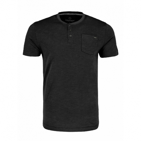 Pánské triko s krátkým rukávem VOLCANO-T-hůbr-BLACK