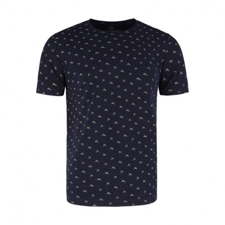 Pánské triko s krátkým rukávem VOLCANO-T-SWALL-NAVY