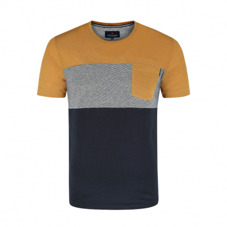 Pánské triko s krátkým rukávem VOLCANO-T-LYRIC-YELLOW