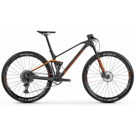 Celoodpružený horský bicykel MONDRAKER-F-Podium Carbon, carbon/orange/grey, 2021