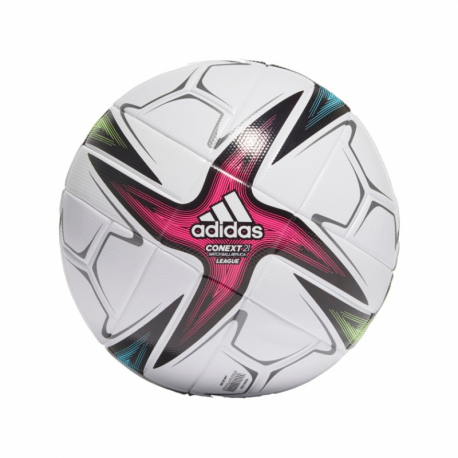 Futbalová lopta ADIDAS-CNXT21 LGE - WHITE/BLACK/SHOPNK/S