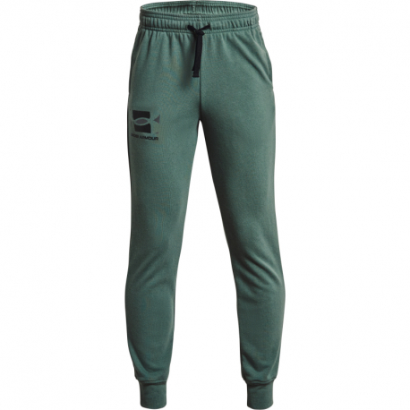 Chlapčenské teplákové nohavice UNDER ARMOUR-UA RIVAL TERRY PANTS-GRN