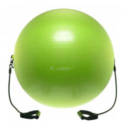 Fitness lopta LIFEFIT - Gymnastická lopta s expanderom LIFEFIT Gymball