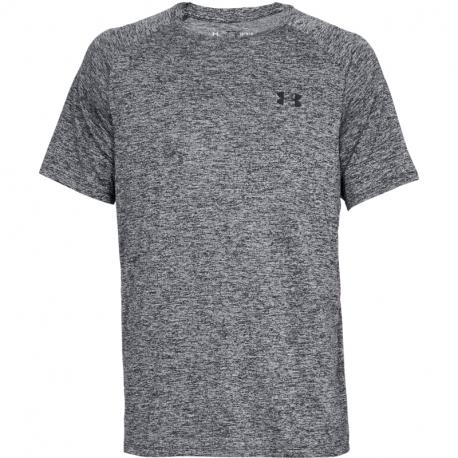 Pánske tréningové tričko s krátkym rukávom UNDER ARMOUR-UA Tech 2.0 SS Tee-BLK 002