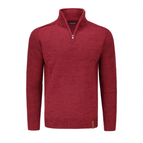 Pánsky sveter VOLCANO-S-BASIL-400M-RED MEL