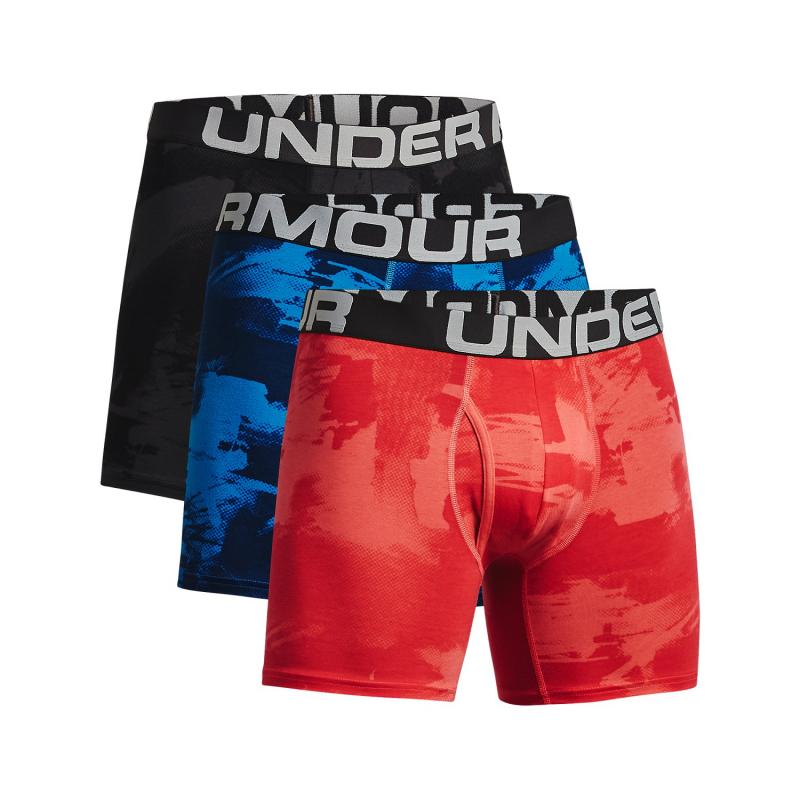 Pánske boxerky UNDER ARMOUR-UA CC 6in Novelty 3 Pack-BLK 003 -