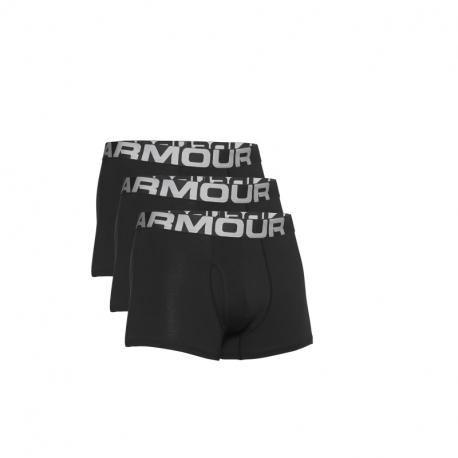 Pánské boxerky UNDER ARMOR-UA Charged Cotton 3in 3 Pack-BLK 001